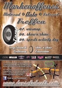 Days of Wheels 2012 - Flyer Rückseite